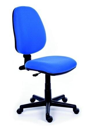 2be9589436ba8 Kancelárska stolička, modré čalúnenie, čierny podstavec, MaYAH ...