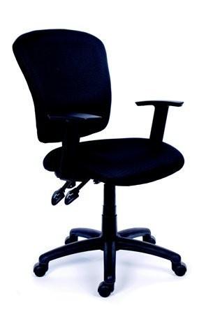 9242867153d6d Kancelárska stolička, čierne čalúnenie, čierny podstavec, MaYAH ...