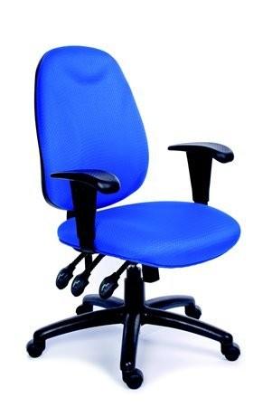 1586e8f47fe90 Kancelárska stolička, s opierkami, exkluzívne čalúnenie, čierny podstavec,  MaYAH