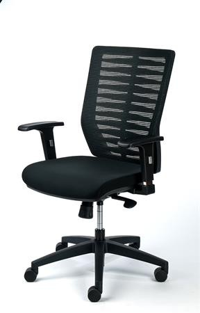 6fddaf825223f Kancelárska stolička, čalúnená, čierny podstavec, MAYAH