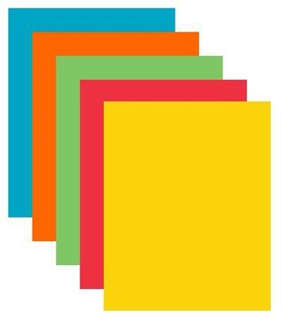 Kancelarsky Papier Farebny A4 80 G 5x50 Listov Xerox Symphony