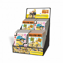 Notes-blok A6 display MINIONS LZ18