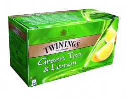 "Zelený čaj, 25x1,6 g, TWININGS ""Green Tea & Lemon"""