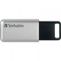 "USB kľúč, 32GB, USB 3.0, 100/35MB/sec, PC & MAC, VERBATIM ""SECURE DATA PRO"", sivý"